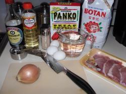 Ingredients for Katsudon