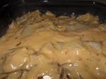 Layer Sauce and Potatoes