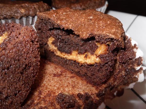 Peanut Butter Filled Cupcake