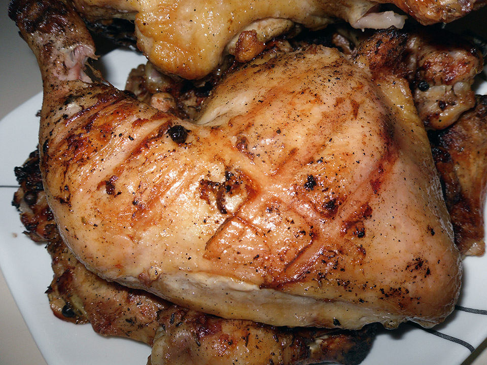The Very Best Way To Grill Chicken Leg Quarters Adriennecooksdotcom