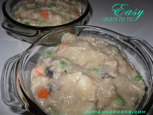Chicken Pot Pie Ready to Cover