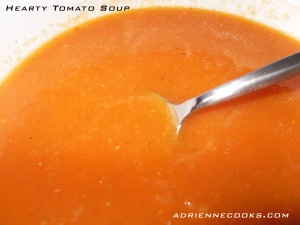 Finished Tomato Soup