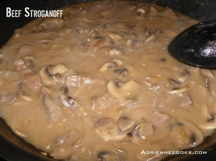 Bring Stroganoff to a Boil