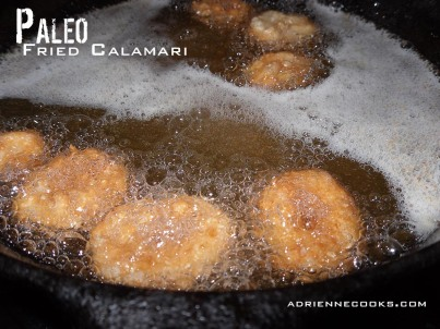 Frying Calamari Rings
