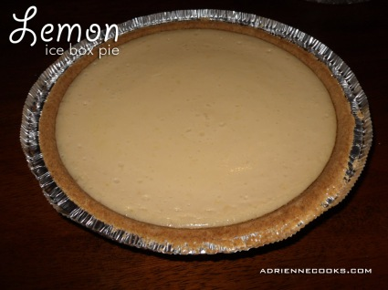 Lemon Ice Box Pie Finished