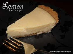 Lemon Ice Box Pie Slice