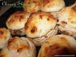 Cheesy Shrimp Stuffed Mushrooms