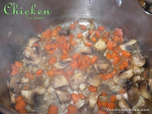 Saute Vegetables in Chicken Drippings