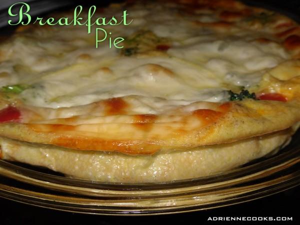 Breakfast Pie Finished