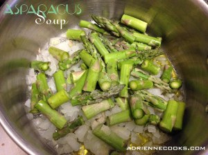 Asparagus and Onions in Pot