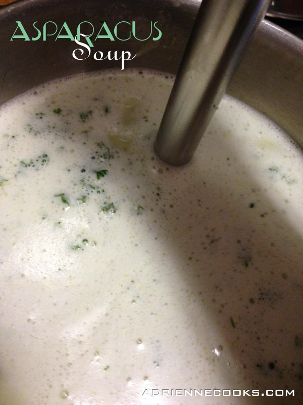 Asparagus Soup Immersion Blender