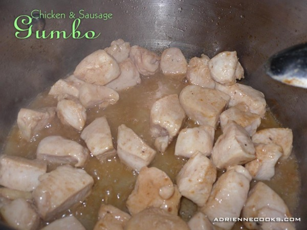 Chicken for Gumbo