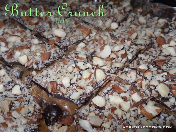 Butter Crunch Toffee Cut Up