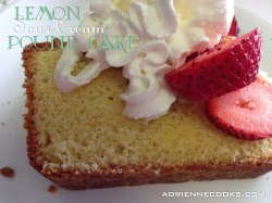 Lemon Sour Cream Pound Cake Ready To Eat