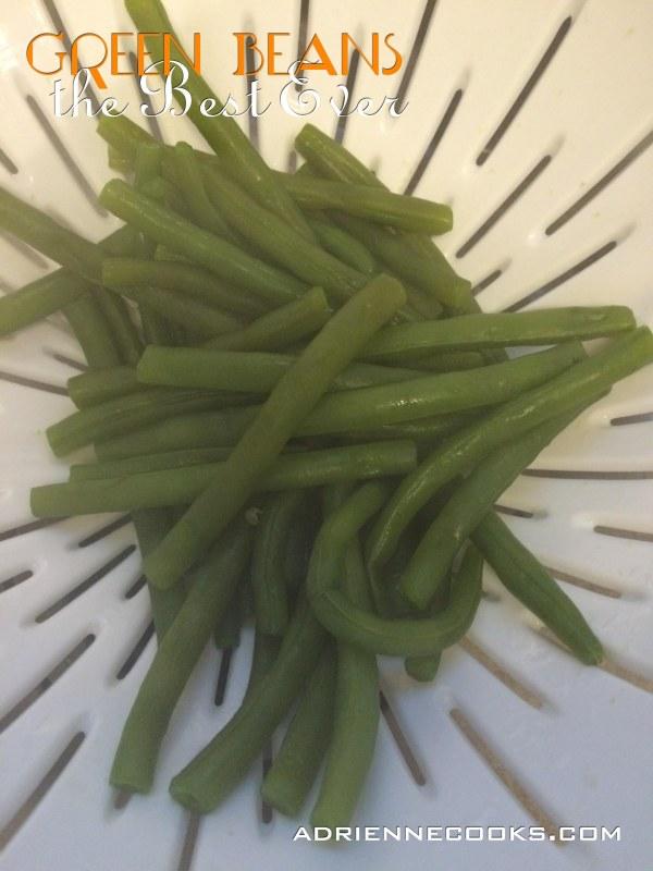 Drain Green Beans