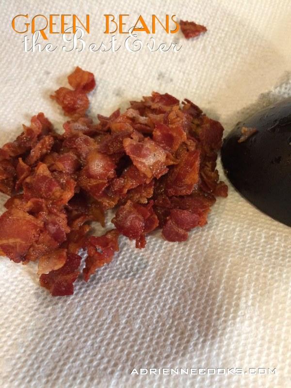 Drain Pancetta Bacon